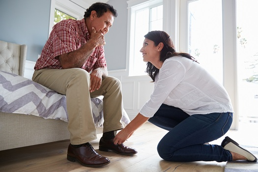 How to Help Your Elderly Parent Choose Properly Fitting Footwear in Barrie, ON